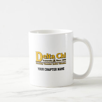Delta Chi Name and Logo Gold Classic White Coffee Mug