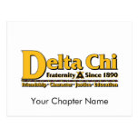 Delta Chi Name and Logo Gold Post Cards