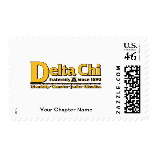 Delta Chi Name and Logo Gold Stamp