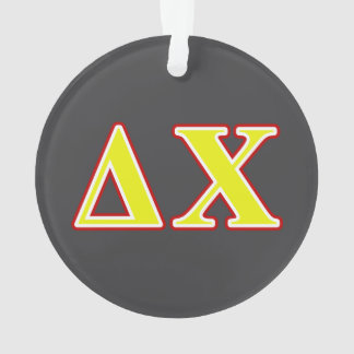 Delta Chi Red and Yellow Letters