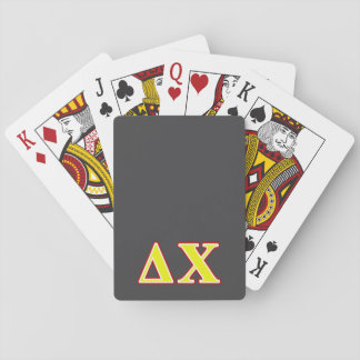 Delta Chi Red and Yellow Letters Card Decks