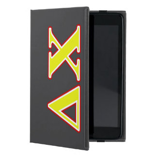 Delta Chi Red and Yellow Letters iPad Mini Case
