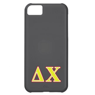 Delta Chi Red and Yellow Letters iPhone 5C Cases