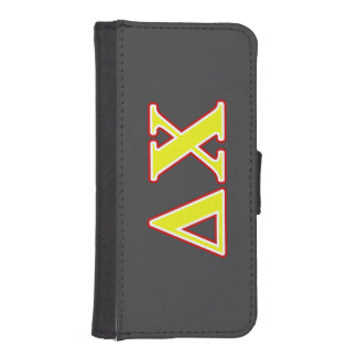 Delta Chi Red and Yellow Letters iPhone SE/5/5s Wallet Case