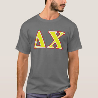 Delta Chi Red and Yellow Letters T-Shirt