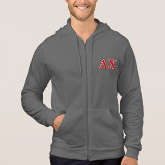 Delta Chi Red Letters Hooded Pullover