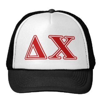 Delta Chi Red Letters Trucker Hat