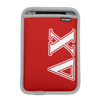 Delta Chi White and Red Letters Sleeve For iPad Mini