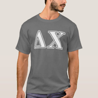 Delta Chi White and Red Letters T-Shirt