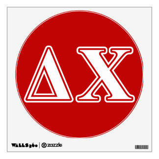 Delta Chi White and Red Letters Wall Sticker