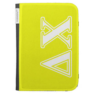 Delta Chi White and Yellow Letters Kindle Case