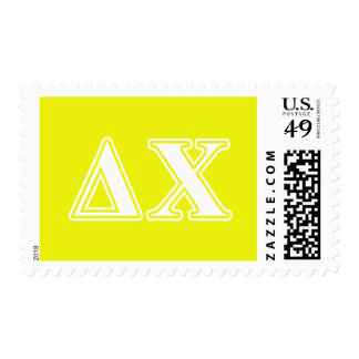 Delta Chi White and Yellow Letters Postage Stamps
