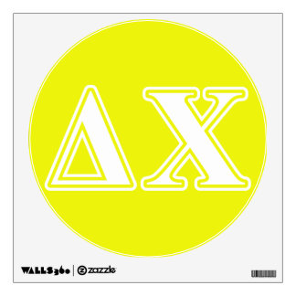 Delta Chi White and Yellow Letters Wall Decal