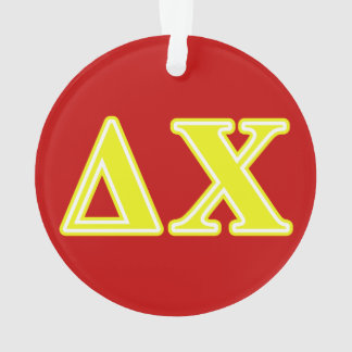 Delta Chi Yellow Letters