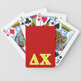 Delta Chi Yellow Letters Bicycle Playing Cards