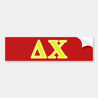 Delta Chi Yellow Letters Bumper Sticker