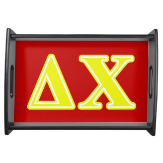 Delta Chi Yellow Letters Food Tray