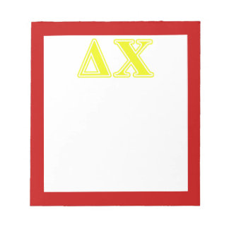 Delta Chi Yellow Letters Memo Pads