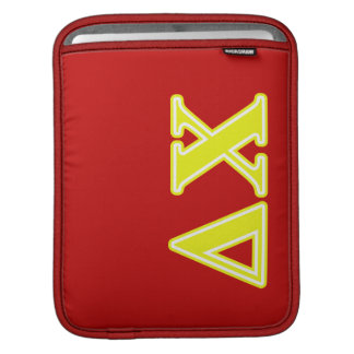 Delta Chi Yellow Letters Sleeve For iPads