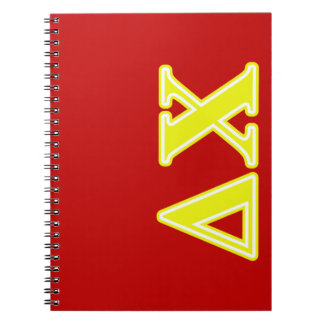 Delta Chi Yellow Letters Spiral Notebook