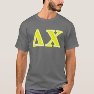 Delta Chi Yellow Letters T-Shirt