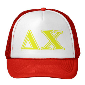 Delta Chi Yellow Letters Trucker Hat