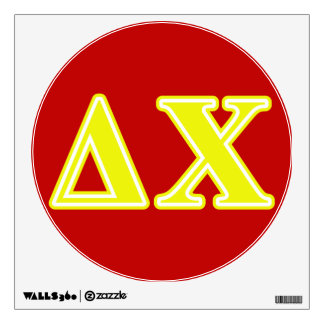 Delta Chi Yellow Letters Wall Sticker