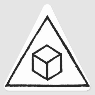 Delta Cubes Triangle Sticker