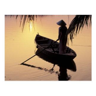 Delta de Asia, Vietnam, el Mekong, Can Tho. Postal
