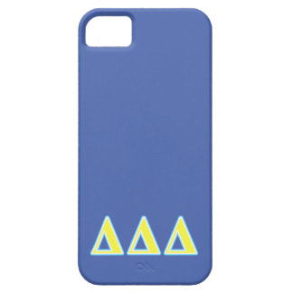 Delta Delta Delta Blue and Yellow Letters iPhone 5 Cover