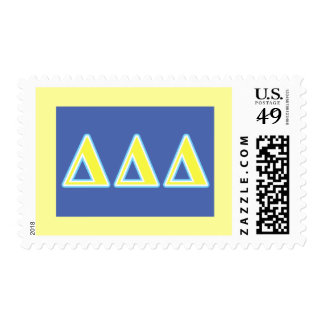 Delta Delta Delta Blue and Yellow Letters Postage
