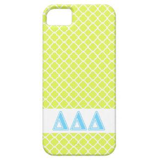 Delta Delta Delta Blue Letters iPhone 5 Covers