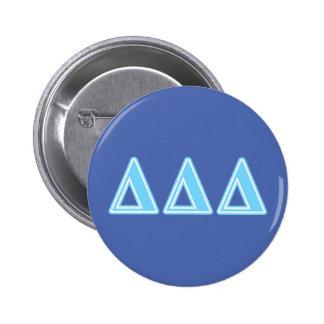 Delta Delta Delta Blue Letters Pinback Button