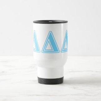 Delta Delta Delta Blue Letters Travel Mug