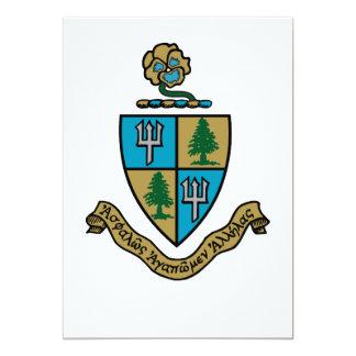 Delta Delta Delta Crest Color Card