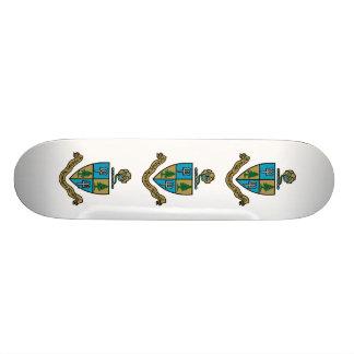 Delta Delta Delta Crest Color Skateboard
