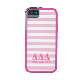 Delta Delta Delta Pink Letters Case For iPhone 5