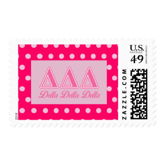 Delta Delta Delta Pink Letters Postage