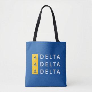Delta Delta Delta   Stacked Tote Bag