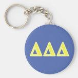 Delta Delta Delta Yellow Letters Key Chain