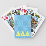 Delta Delta Delta Yellow Letters Bicycle Playing Cards