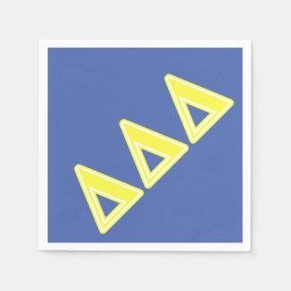 Delta Delta Delta Yellow Letters Paper Napkin