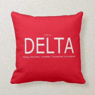 Delta Description - Red Throw Pillow