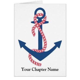 Delta Gamma Anchor Greeting Cards
