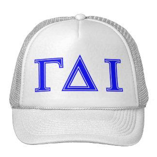 Delta gamma iota (letras azules) gorra