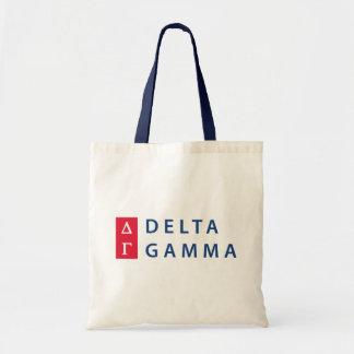 Delta Gamma   Stacked Logo Tote Bag