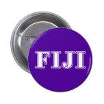 Delta gamma Whie de la phi y letras púrpuras Pin Redondo 5 Cm