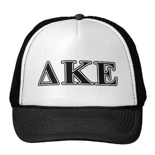 Delta Kappa Epsilon Black Letters Hats
