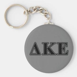 Delta Kappa Epsilon Black Letters Keychain