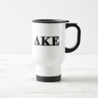 Delta Kappa Epsilon Black Letters Travel Mug